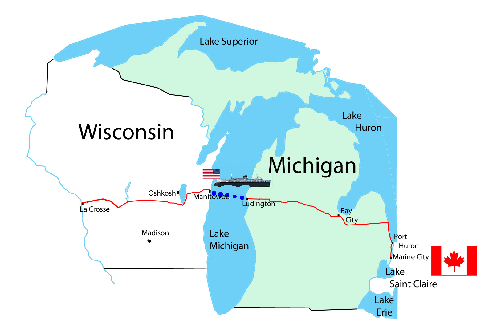 Wisconsin Michigan Sept To Oct Brad Edmondson - Map of wisconsin and michigan